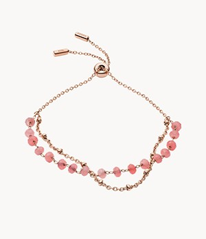 Modern Meadows Rose Quartz Chain Bracelet