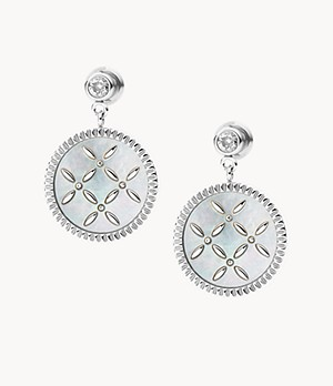 Fleurette Mother-of-Pearl Stainless Steel Drop Earrings