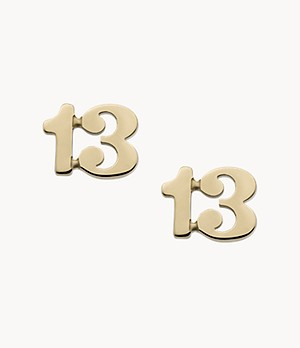 Little Fortunes Gold-Tone Stainless Steel Stud Earrings