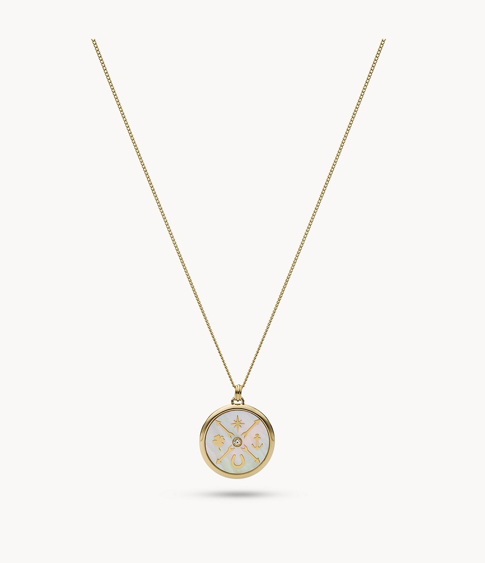 JF02779998 Fossil Women Stainless Steel Pendant Necklace