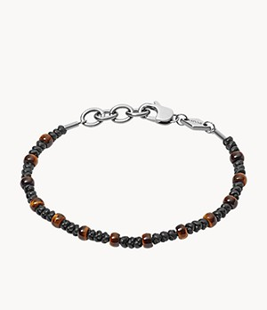 Warm Tones Tiger's Eye Beaded Bracelet