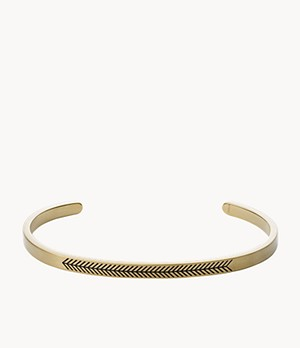 Foundations Gold-Tone Stainless Steel Cuff Bracelet