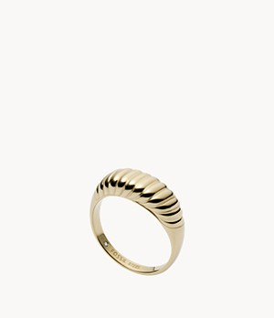 Golden Sun Gold-Tone Stainless Steel Band Ring