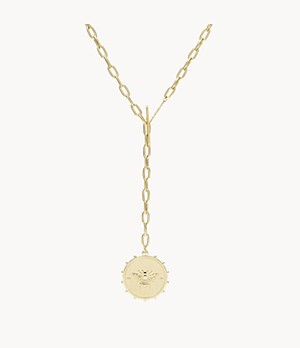 Vintage Coin Collection Gold-Tone Stainless Steel Y-Neck Necklace