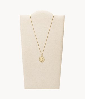 Vintage Coin Collection Gold-Tone Stainless Steel Pendant Necklace