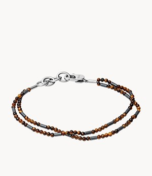 Tiger's Eye and Hematite Multi-Strand Bracelet