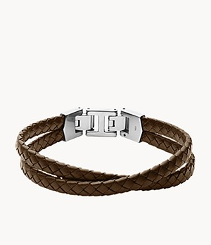 Leather Essentials Brown Leather Multi-Strand Bracelet