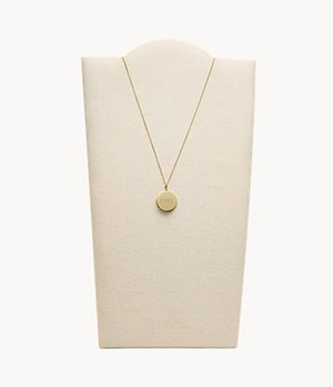 Vote Gold-Tone Stainless Steel Pendant Necklace