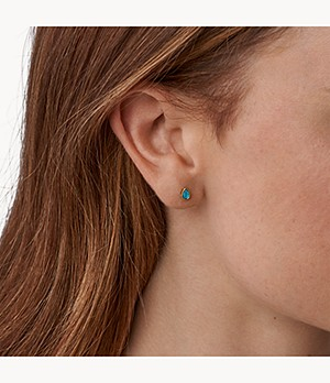 Tranquil Summer Turquoise Blue Stud Earrings
