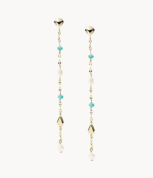 Tranquil Summer Imitation Pearl Drop Earrings