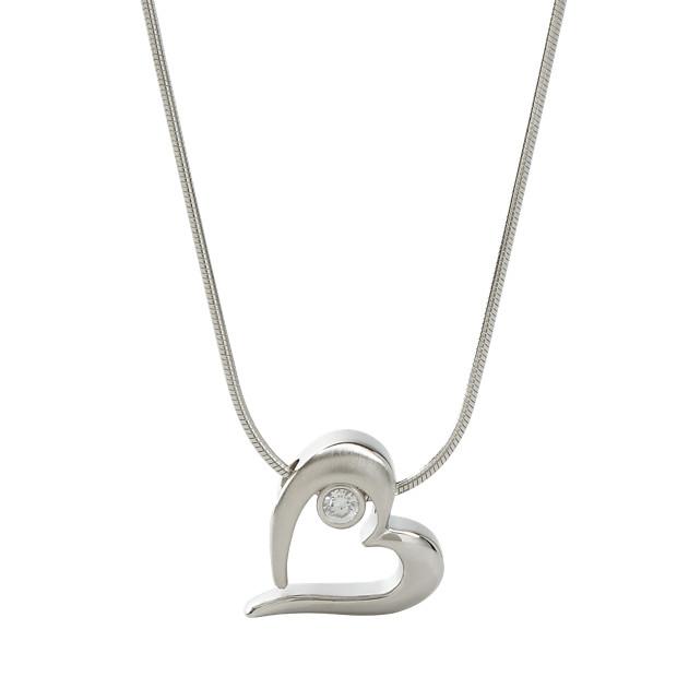 Damen Halskette Glitz Herz