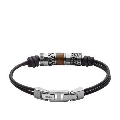 bracelet argent cuir homme lyon