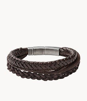 Brown Braided Double Bracelet