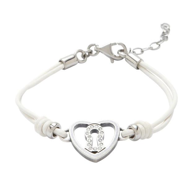 Glitz Heart Lock Bracelet