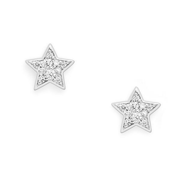 Sterling Glitz Star Studs
