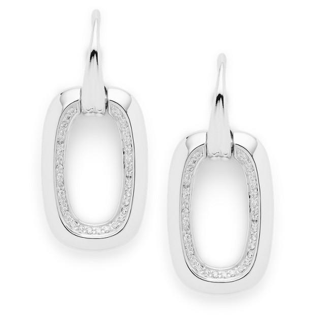 Sterling Glitz Square Earrings
