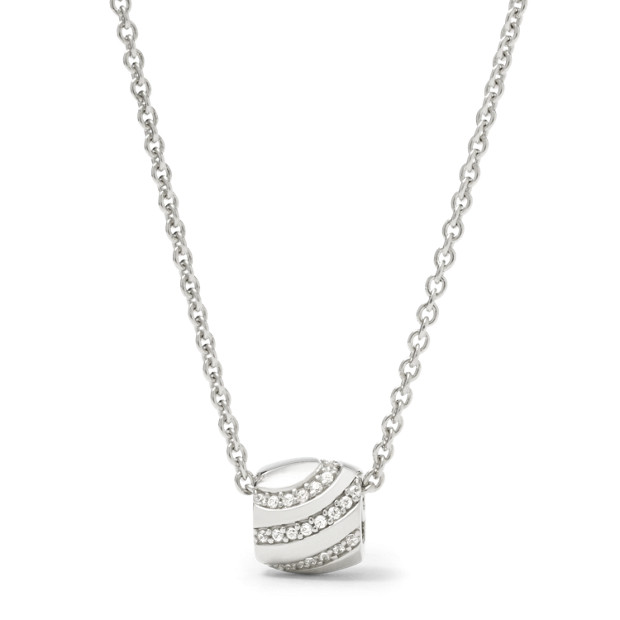 Sterling Glitz Rondel Necklace