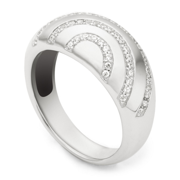 Damen Ring - Sterling Basic Pave Glitz