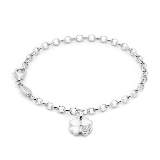 Sterling Clover Bracelet