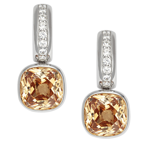 Sterling Glitz Drop Earrings
