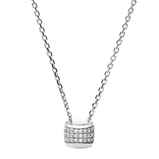 Damen Halskette - Sterling Silver Glitz