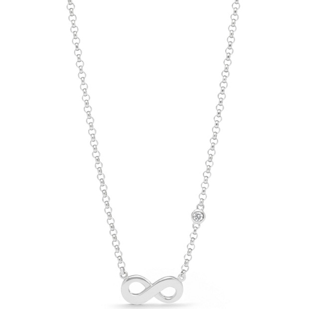Infinite Love Sterling Silver Boxed Necklace