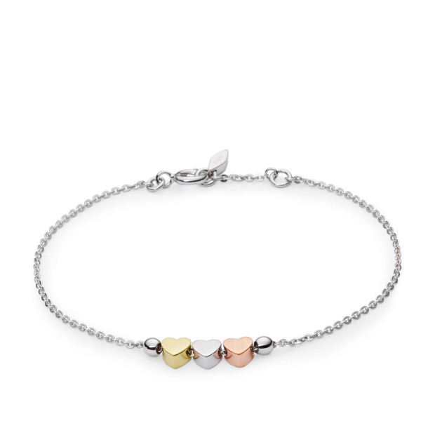 Mother's Day Heart Tri-Tone Boxed Bracelet