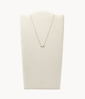 Mother's Day Heart Tri-Tone Sterling Silver Boxed Necklace