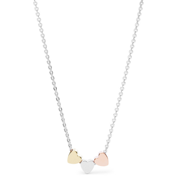 Mother's Day Heart Tri-Tone Boxed Necklace