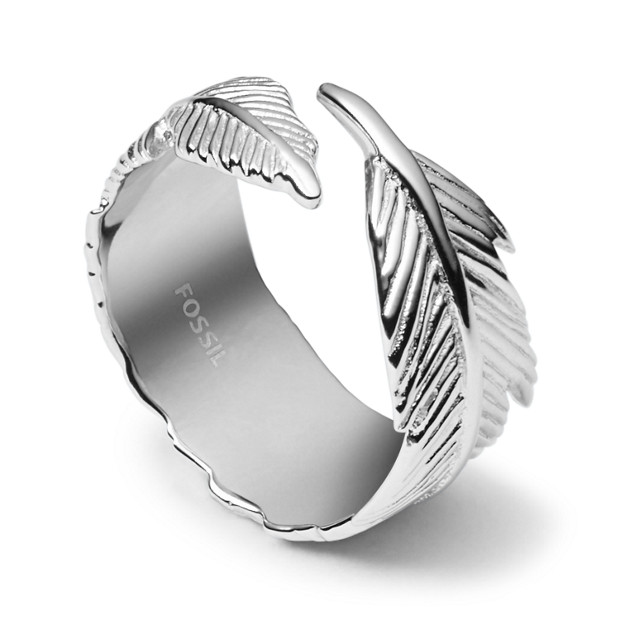 Damen Ring - Sterling Silver Feather