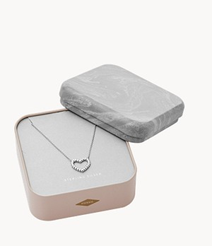 Open Heart Sterling Silver Necklace Box Set