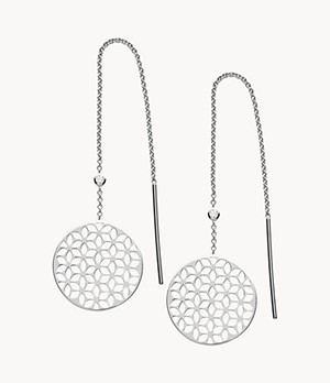 Floral Sterling Silver Drop Earrings