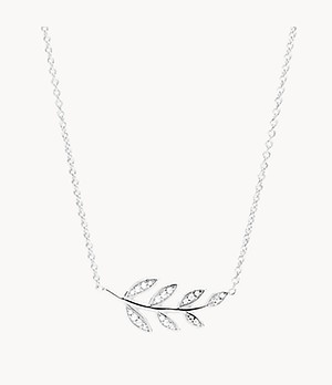 Olive Branch Sterling Silver Pendant Necklace