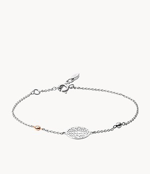 Damen Armband - Sterling Silver Abstract Cutout