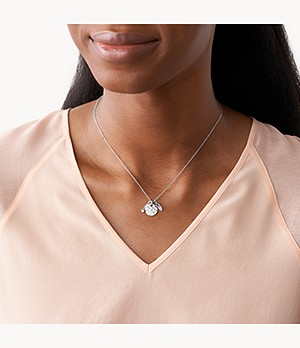 Hammered Silver Rose Quartz Sterling Silver Pendant Necklace