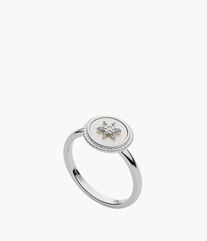 Damen Ring Vintage Star