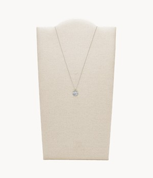 Mother-of-Pearl Sterling Silver Pendant Necklace