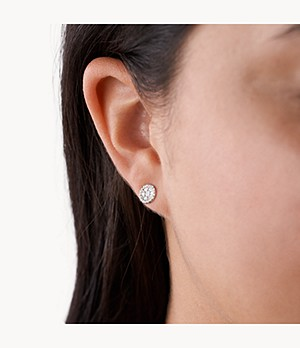 Mother-of-Pearl Sterling Silver Stud Earrings