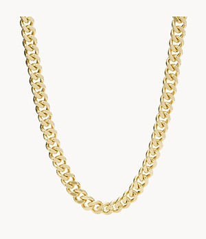 Gold-Tone Brass Chain Necklace