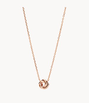 Flex Knot Rose-Gold-Tone Steel Necklace