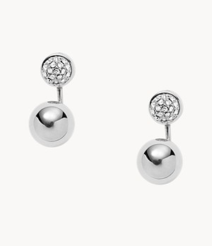 Pavé Ball Stainless Steel Ear Jackets