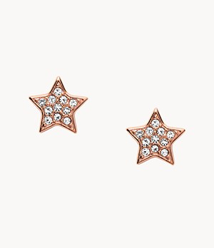 Star Rose-Gold-Tone Steel Studs