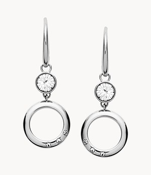 Open Circle Stainless Steel Earrings
