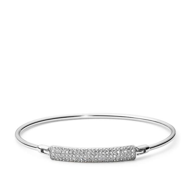 Fossil Unisex Bracelet à Barre En Acier Inoxydable Argent - One size