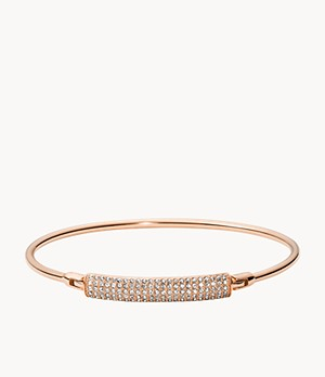 Bar Rose-Gold-Tone Stainless Steel Bangle