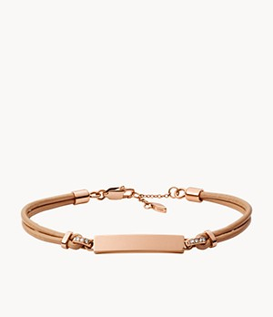Bar Nude Leather Bracelet