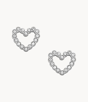 Open Heart Stainless Steel Earrings