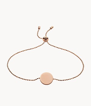 Disc Rose Gold-Tone Stainless Steel Bracelet