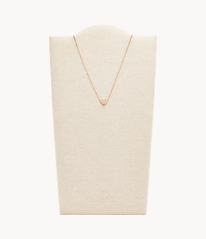 Damen Halskette Heart Rose Gold-Tone Necklace
