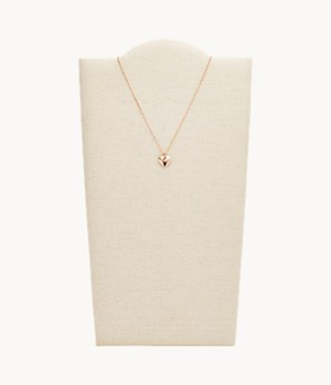 Damen Halskette Double Heart Rose Gold-Tone Necklace
